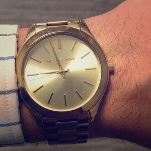 Gold unisex Michael Kors watch